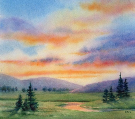 Project 2: Watercolor Landscapes - art and Desgin II